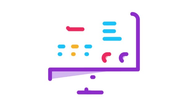 Animace ikon webových stránek s letovými informacemi