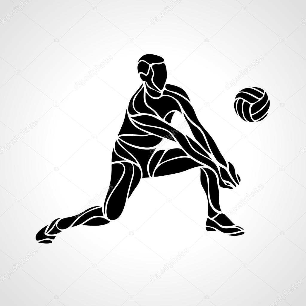 Volleyball Silhouette Graphics - Silhouette Graphics | Pallavolo, Sagome
