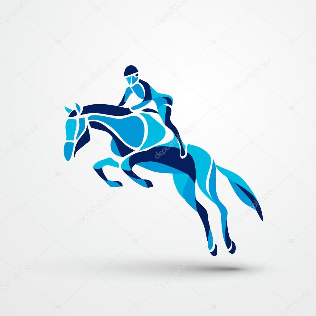 Horse Race Equestrian Sport Silhouette Of Racing With Jockey On Isolated Background And Rider Derby