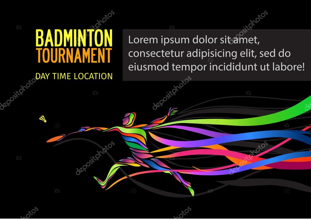 badminton sport invitation poster or flyer background with empty