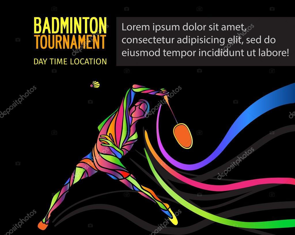 Badminton Sport Einladung Poster oder Flyer Hintergrund mit leeren ...
