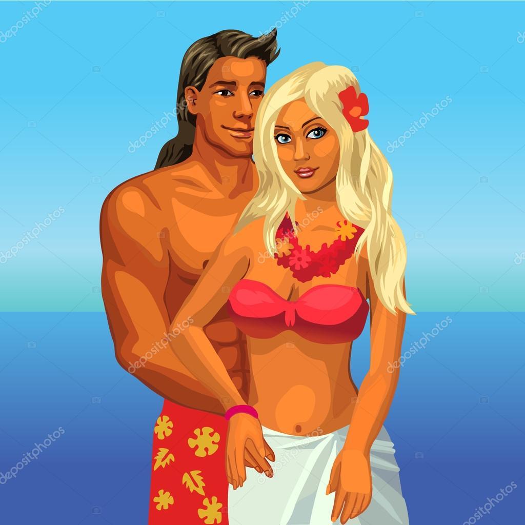Beach bikini honeymoon