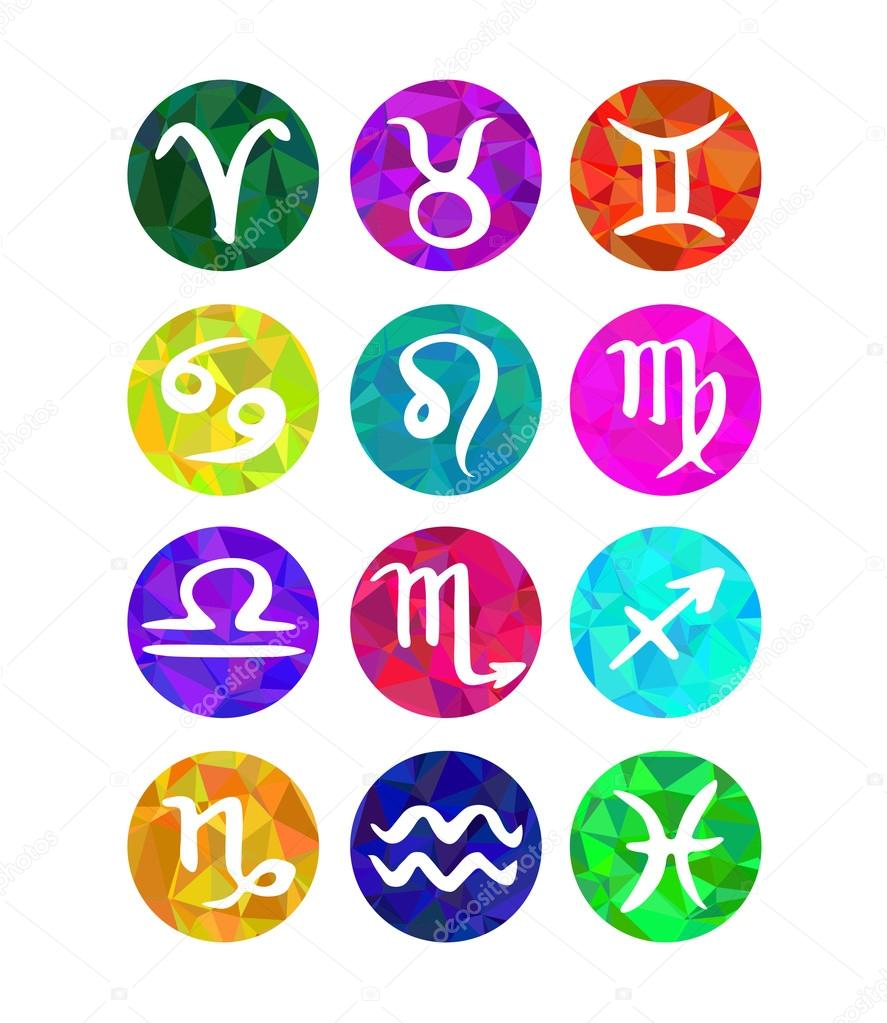 Astrology symbols stock vectors royalty free astrology symbols set of calligraphic zodiac signs horoscope symbols polygonal style royalty free stock illustrations buycottarizona