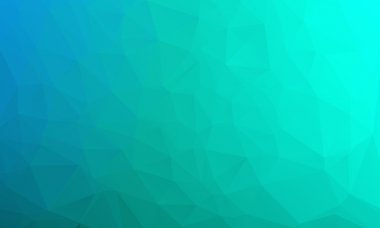 Abstract bright blue geometric background, consists of triangles. Polygonal abstract aqua background.