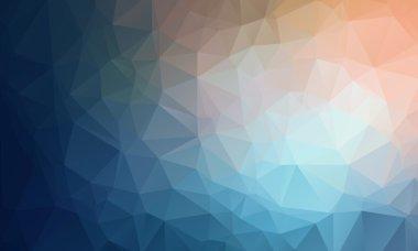 """Картина, постер, плакат, фотообои """"векторный геометрический многоугольник абстрактный фиолетовый фон синий для персикового цвета """", артикул 69779525"""