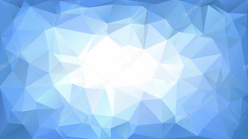 Vector abstract polygonal blue background or frame