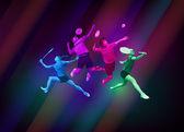 Fotografie Sportovní plakát s badmintonisté