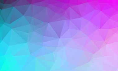 Abstract natural polygonal background. Smooth spring colors from turquoise blue to purple
