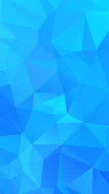 Shades of cyan abstract polygonal geometric background -- low poly.