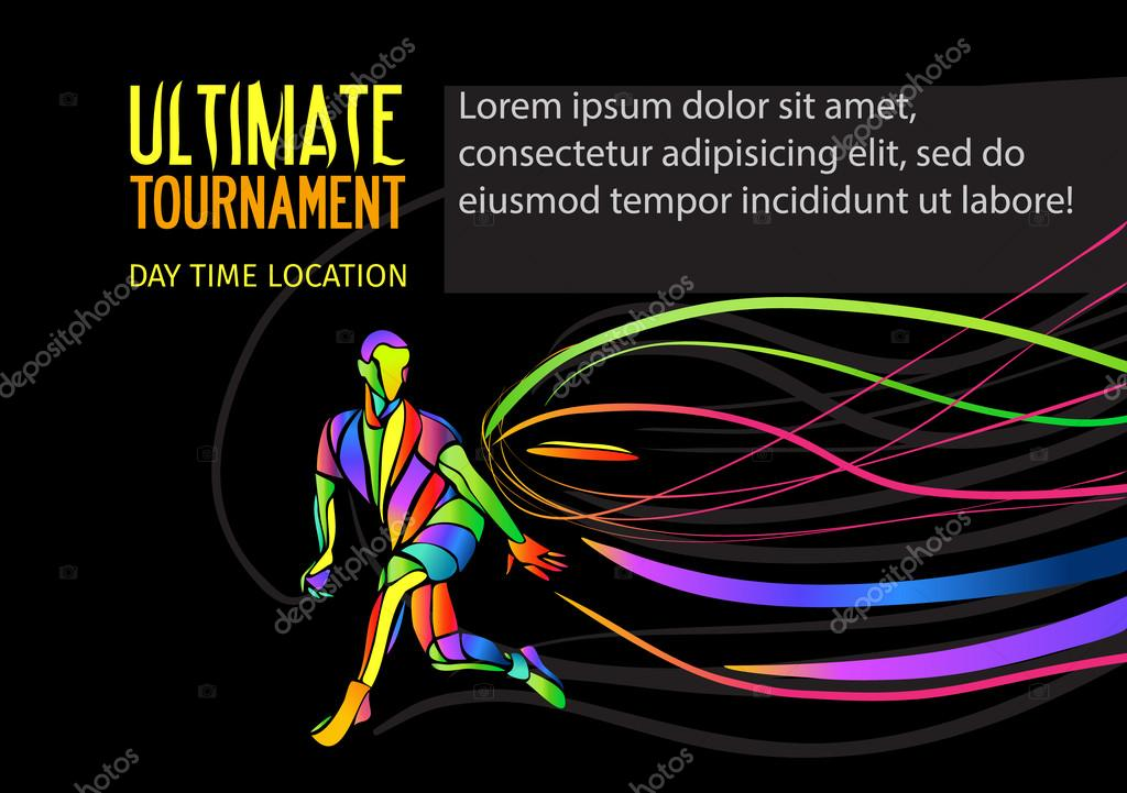 Ultimate sport invitation poster or flyer background with empty ...