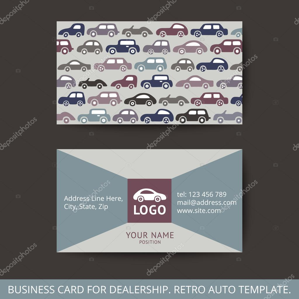 Vector design business card for auto. — Stock Vector ...