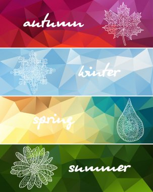 Four seasons horizontal banners