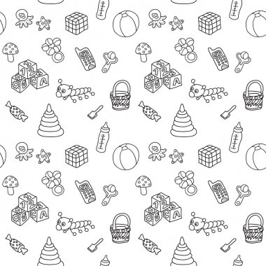 Pattern with toys
