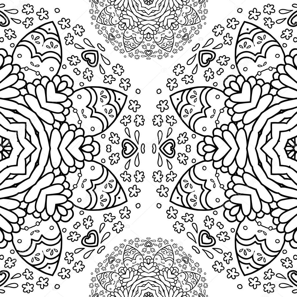 media vuelta patrón de encaje, fondo del círculo, crochet encaje ...
