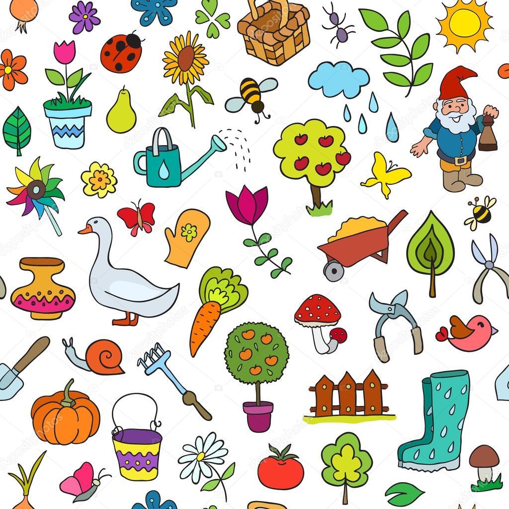 Pattern of gardening objects