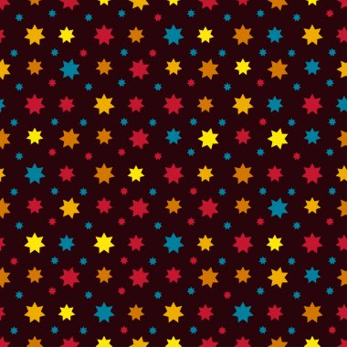 Abstract Seamless Pattern with stars. Endless texture can be used for wallpaper, pattern fills, web page background, surface texture.