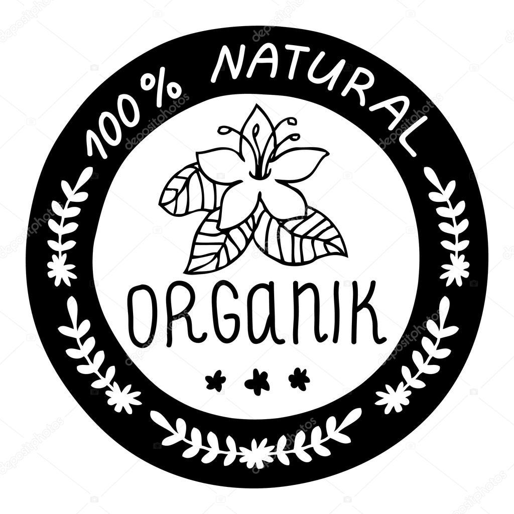 Ecology, organic icon. Natural organik.