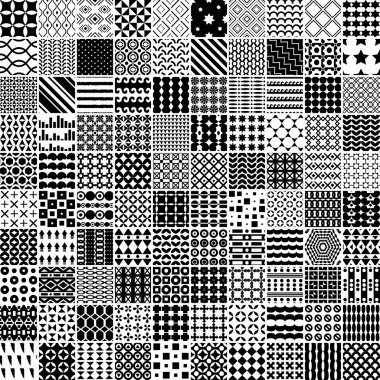 100 monochrome pattern. Vector seamless pattern. Endless texture can be used for printing onto fabric, paper or scrap booking, wallpaper, pattern fills, web page