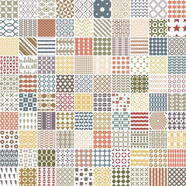 100 retro pattern. Vector pattern. Endless texture can be used for printing onto fabric, paper or scrap booking, wallpaper, pattern fills, web page background, surface texture.