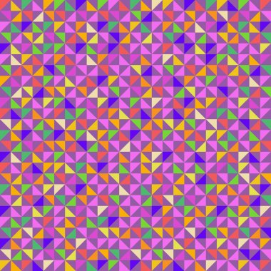 Abstract seamless background with colorful triangles. Vector illustration. Textures for wallpaper, fills, web page background.