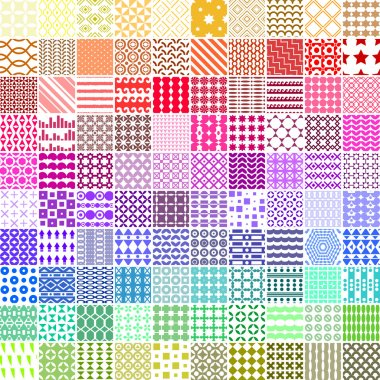 100 seamless pattern. Vector pattern. Endless texture can be used for printing onto fabric, paper or scrap booking, wallpaper, pattern fills, web page background, surface texture.