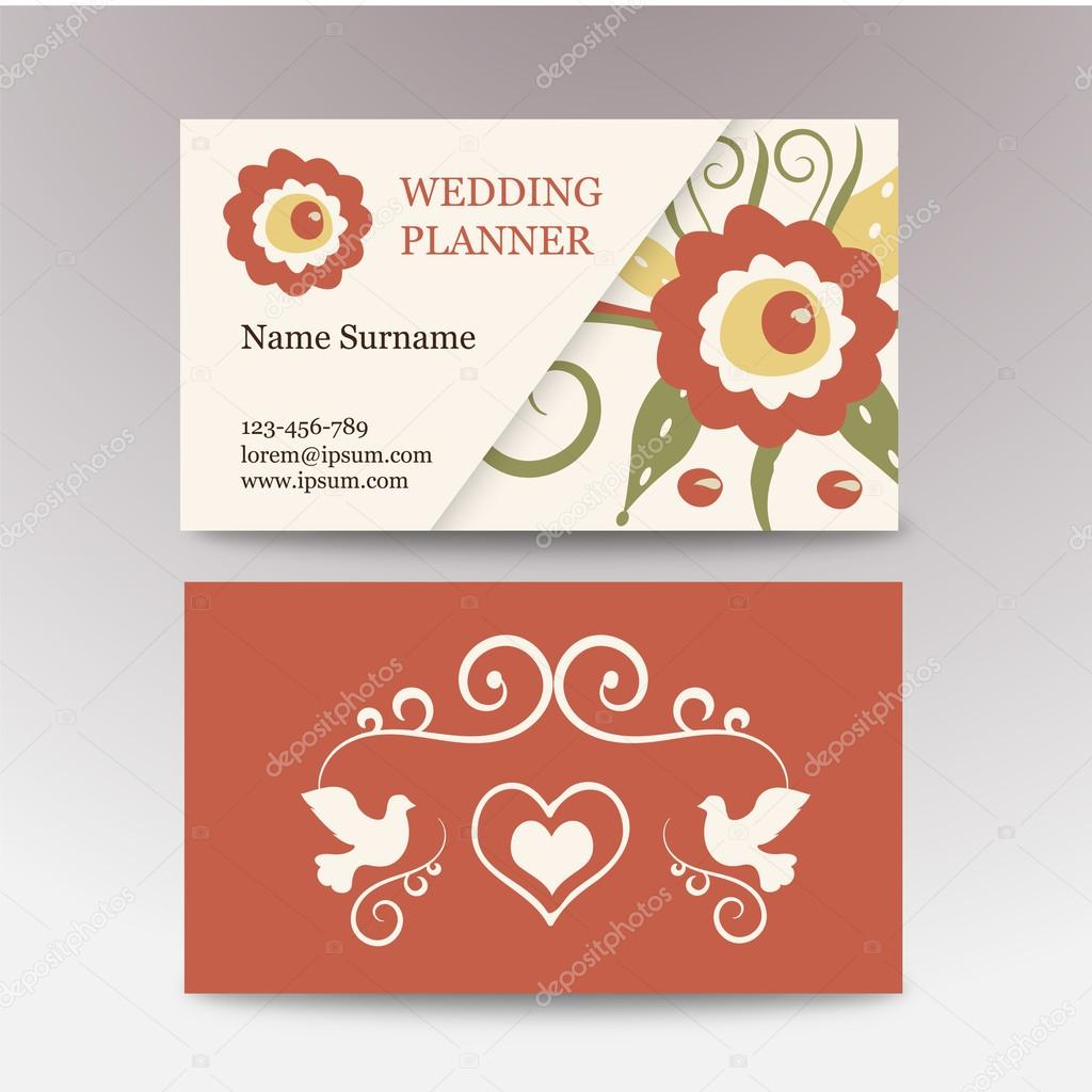 vintage female template business card. Perfect for a wedding planner ...