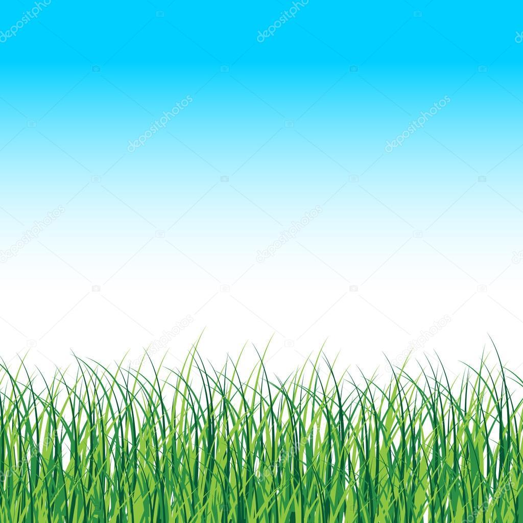 Vektör çimen Manzara çim Kenarlıklı Vektör Doğa Arka Plan Stok