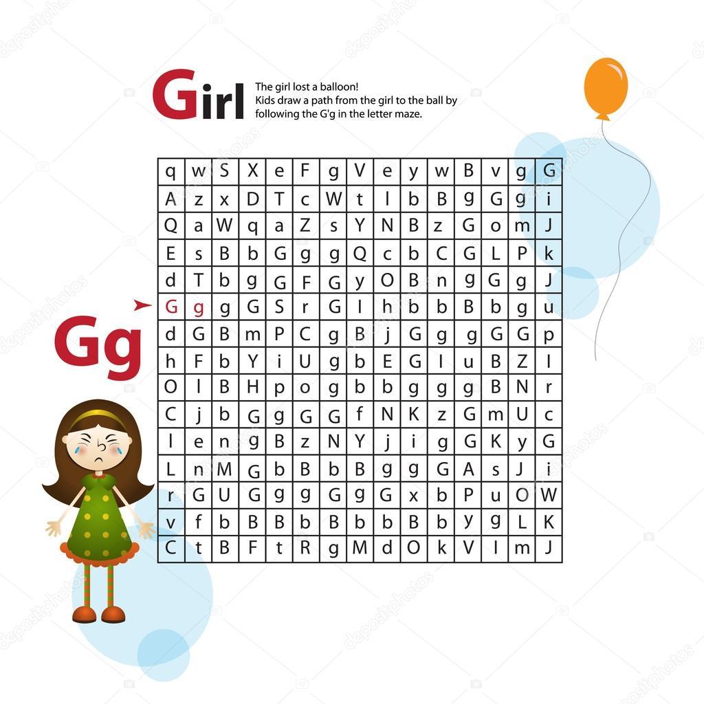 Brief-Labyrinth G. Dieses Arbeitsblatt hilft Kindern erkennen und ...
