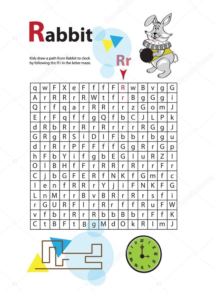 Letter Maze R. This worksheet helps kids recognize and name ...