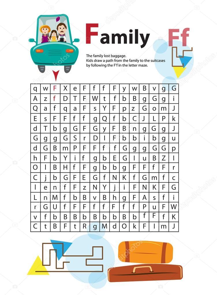 Brief-Labyrinth F. Dieses Arbeitsblatt hilft Kindern erkennen und ...