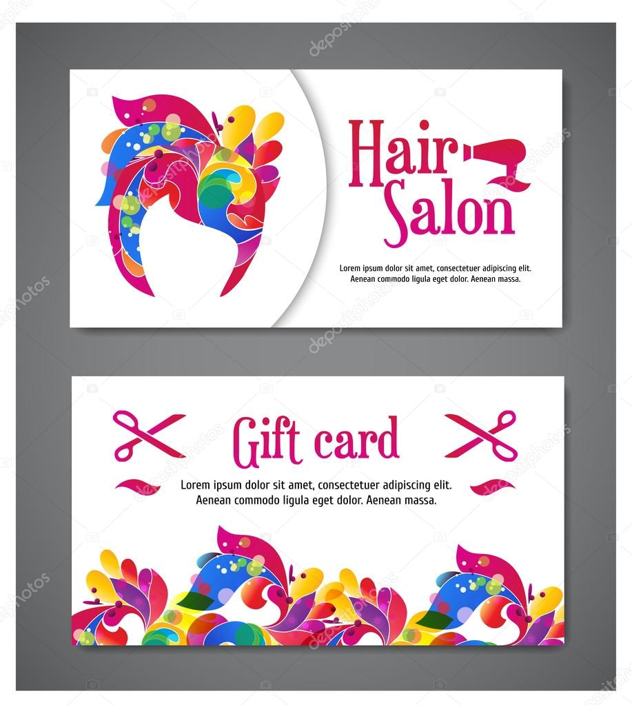 It is a picture of Amazing Printable Hair Salon Gift Certificate Template