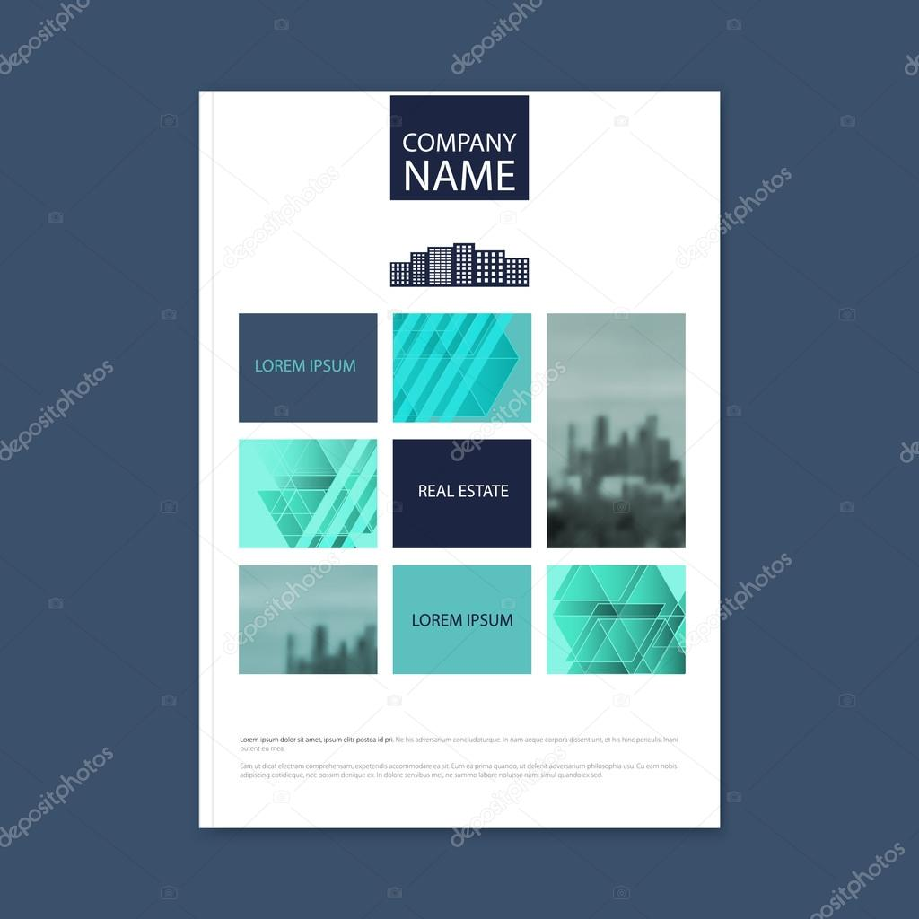 Brochure Template Design Concept Of Architecture Design With Photo