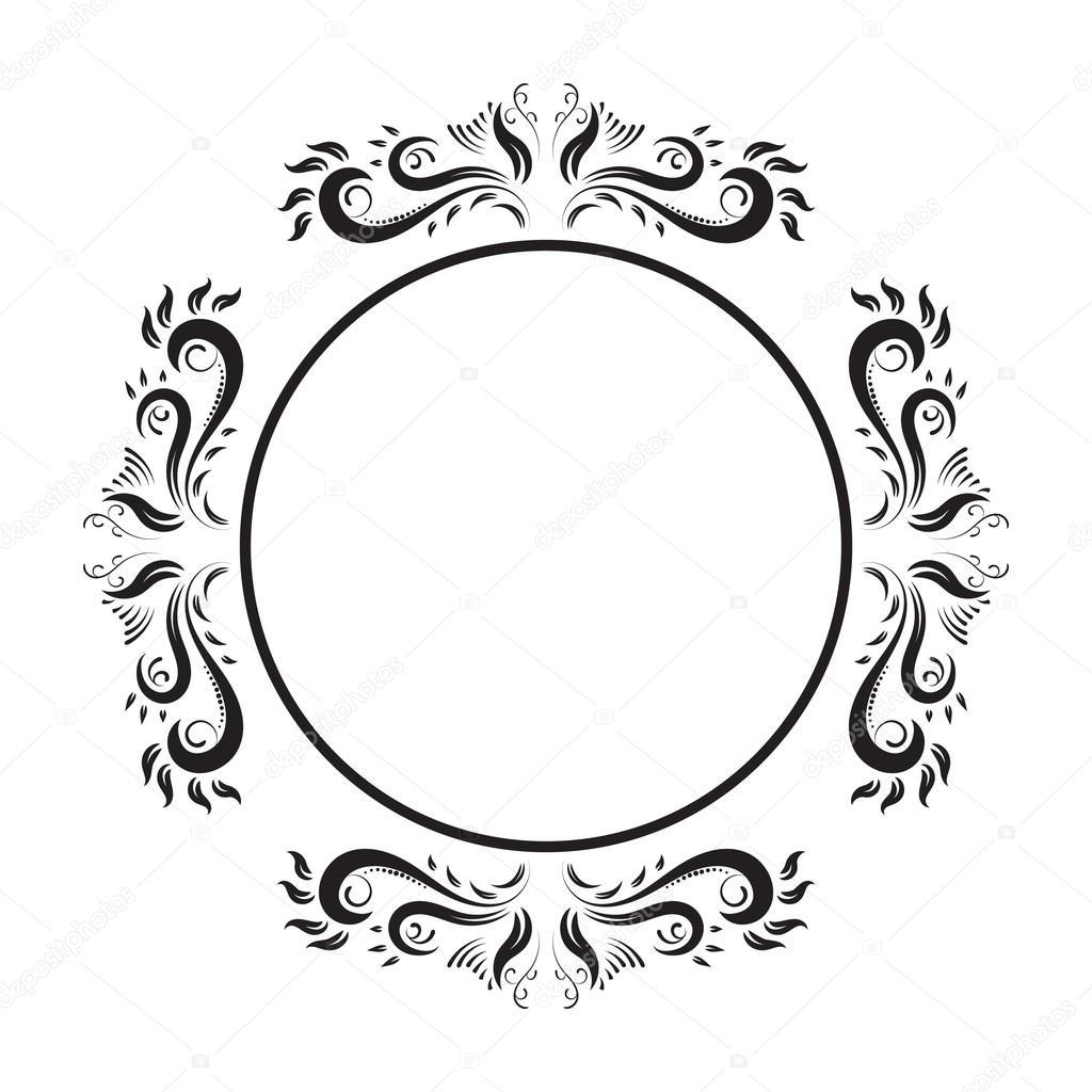 Vintage verzierten Kreis Rahmen. Vektor-Bild — Stockvektor © Peliken ...
