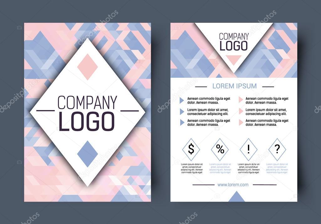 Vektor Broschüre corporate leeren Vorlage. Vorderseite und Rückseite ...
