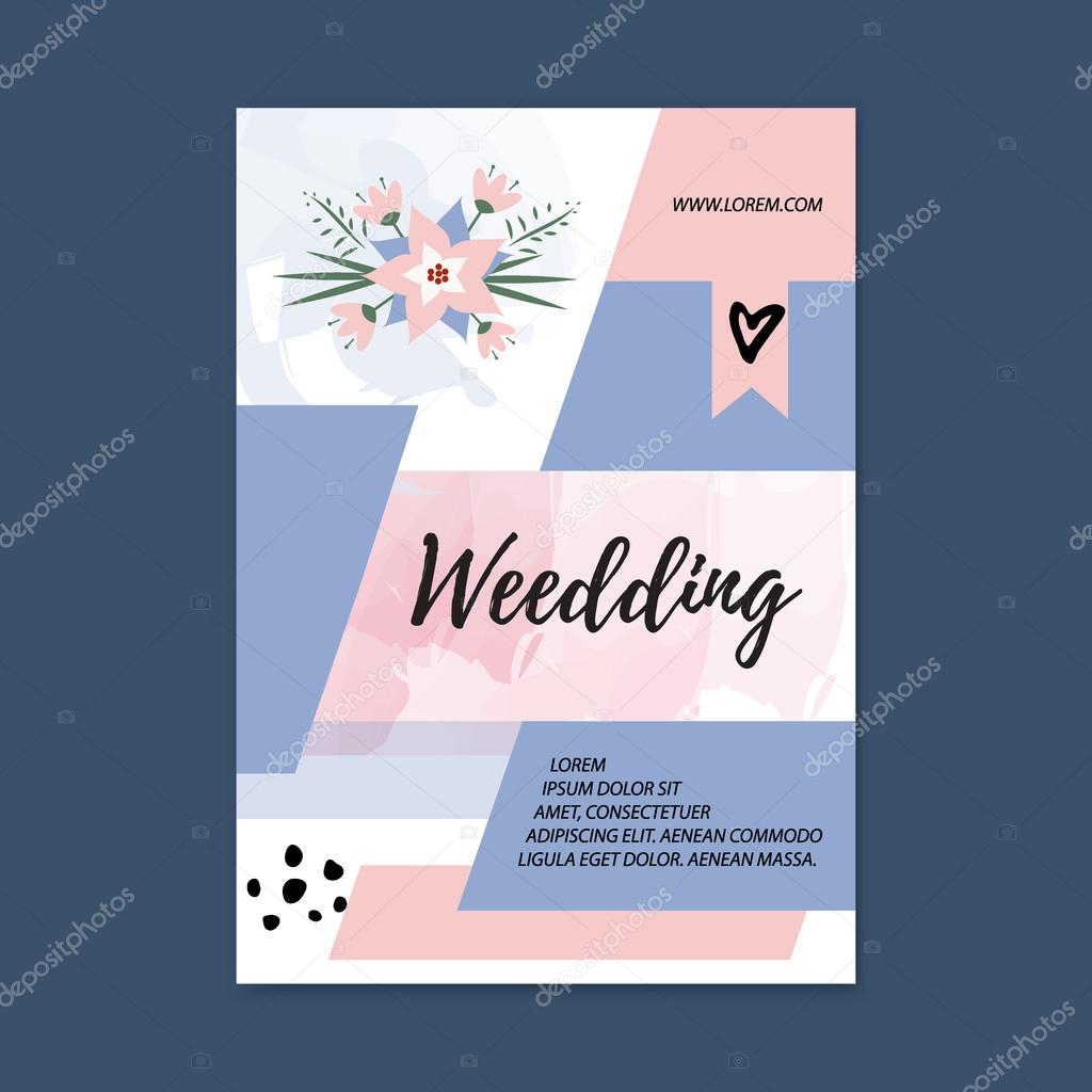 Wedding Brochure Templates Vector Wedding Brochure Blank Template Front Page And Back Page Abstract Female Brochure Design Wedding Planner Stock Vector C Peliken 111437994