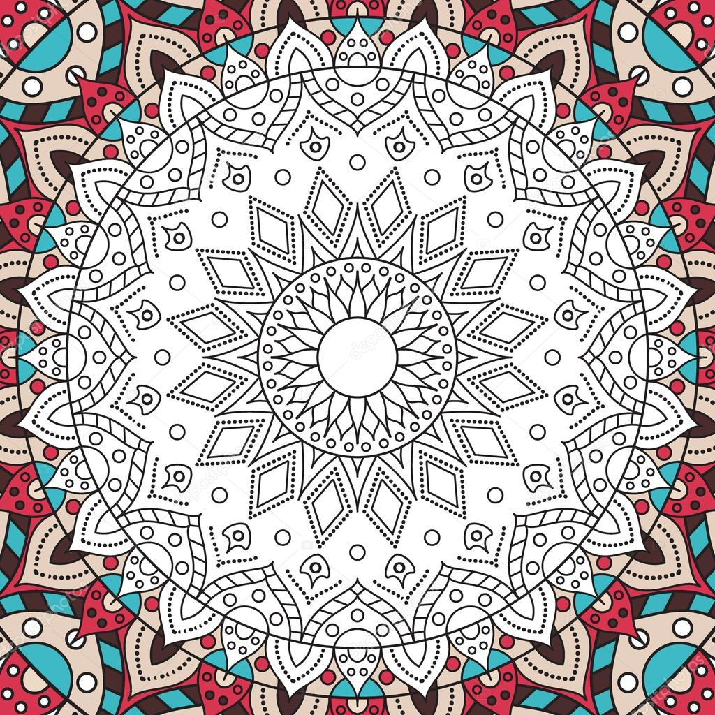 printable antistress coloring book page for adults mandala