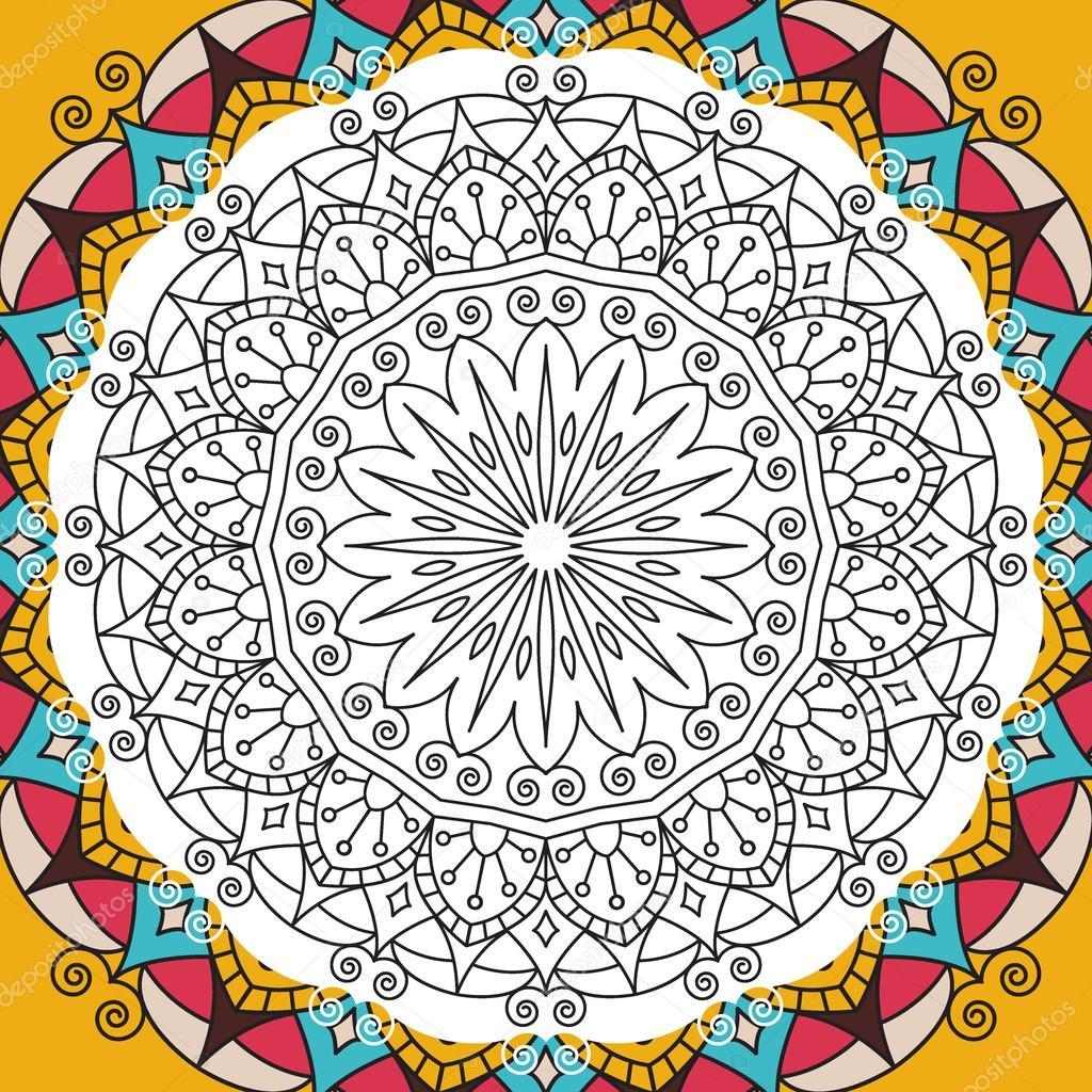 de colorear antiestrés para Imprimir página para adultos - diseño de ...