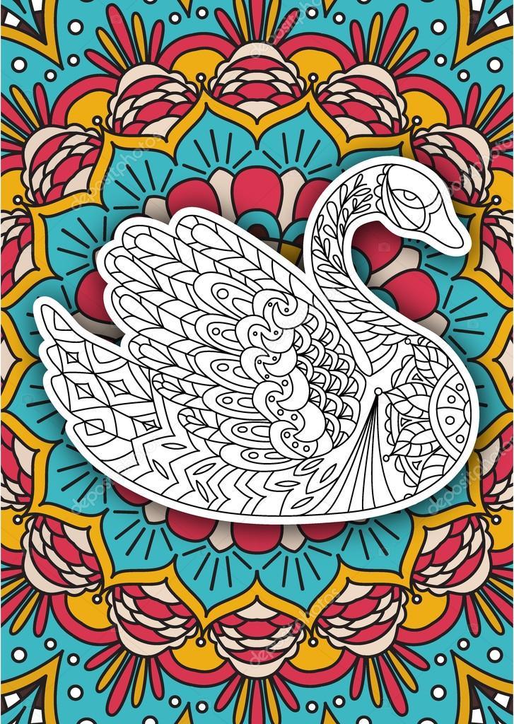 Fotos: cisnes para imprimir | Libro para colorear para imprimir la ...