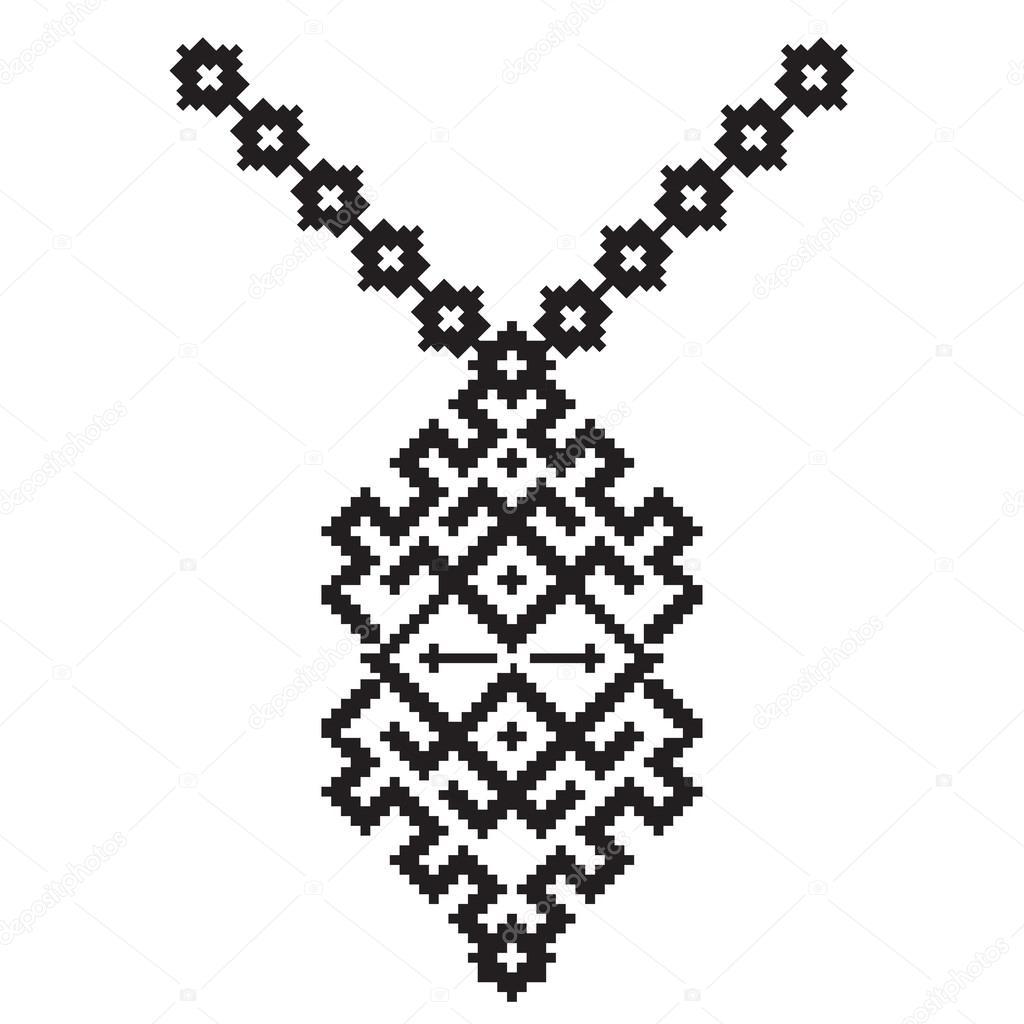 Vectores: collar de | Collar Azteca de vector del bordado para las ...