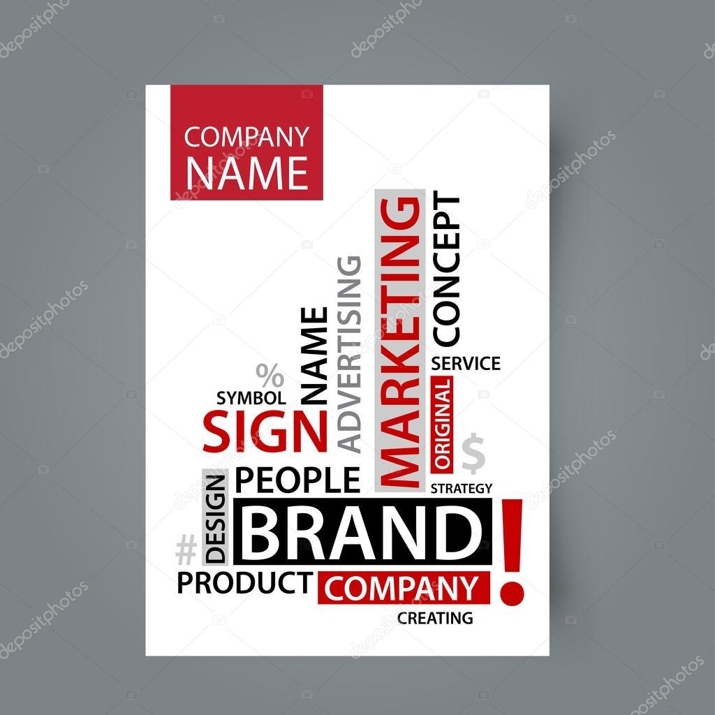 Plantilla en blanco de Word Cloud con etiquetas de marca — Archivo ...