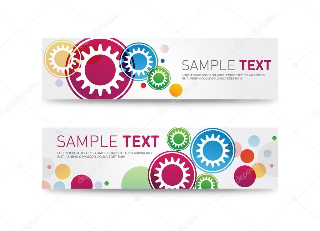 Website-Header oder Promotion Banner Vorlagen. Kunden-Dienst ...