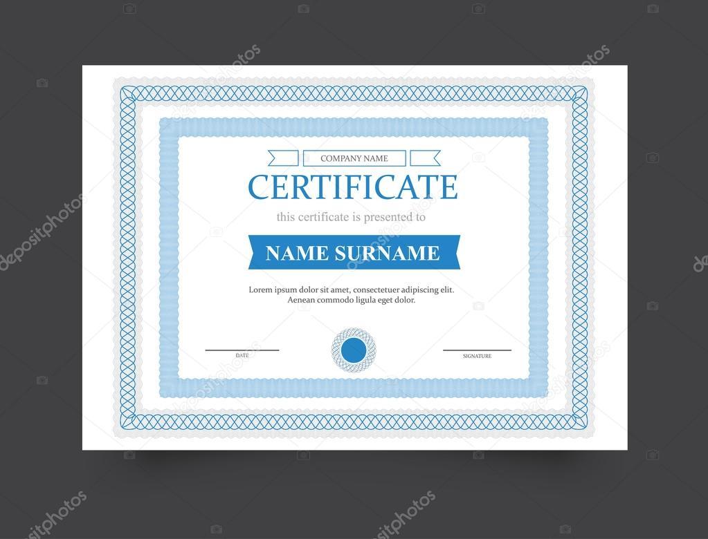 die Vorlage des Zertifikats Herzlichen Glückwunsch. Vektor ...