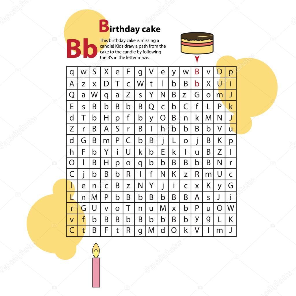 Schreiben Maze B. Dieses Arbeitsblatt hilft Kindern erkennen und den ...