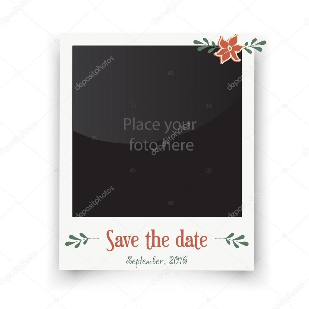Cartoline Auguri Matrimonio : Biglietti di auguri di matrimonio retrò modello per foto polaroid