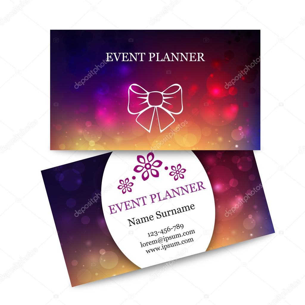 Template colorful business cards for event planner abstract magic template colorful business cards for event planner abstract magic bokeh background effect blurred light colourmoves