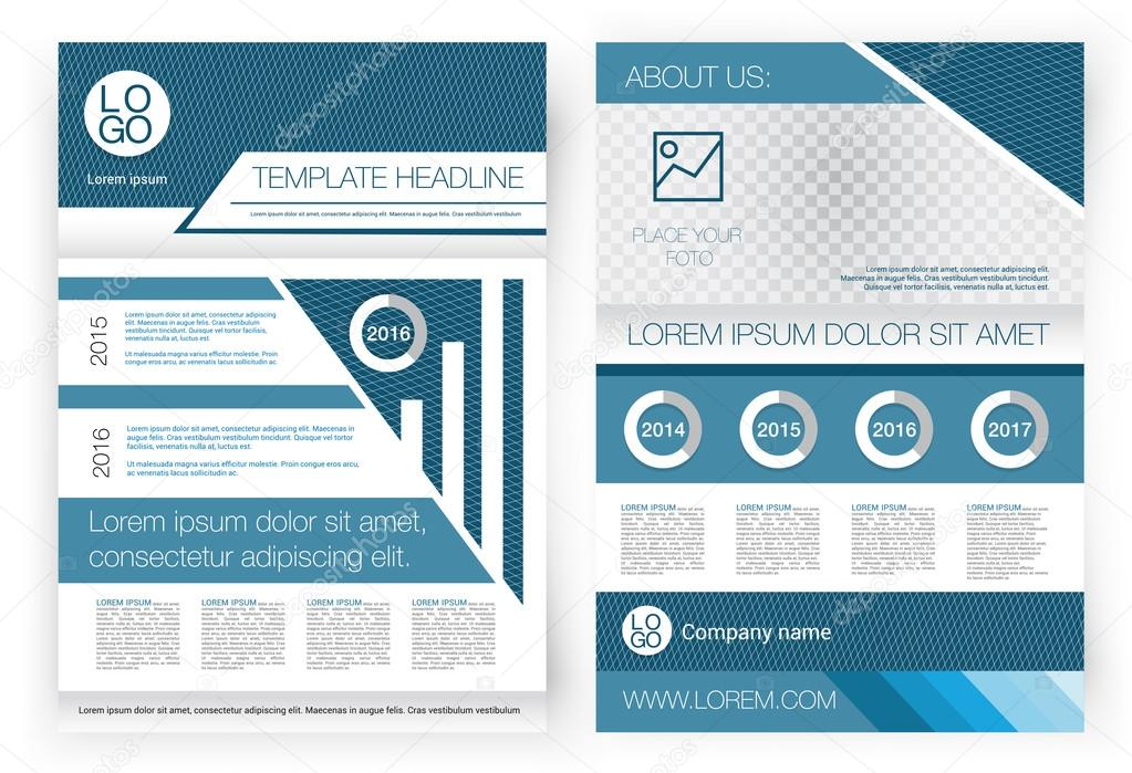 vector brochure design template. front page and back page, Presentation Front Page Template, Presentation templates