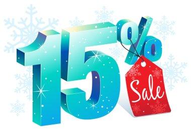 Winter Sale 15 Percent Off Discount