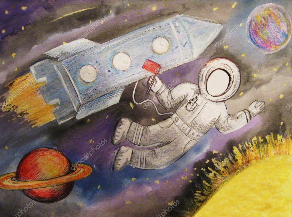 детские рисунки космоса и планет красками сайт кредит агриколь