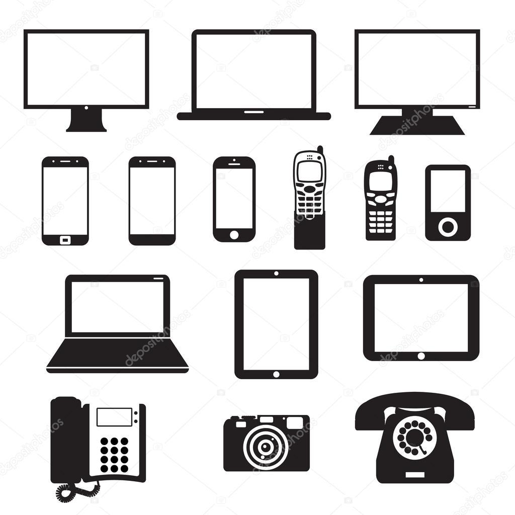 Elektronische Geräte — Stockvektor © Chege011 #60222791