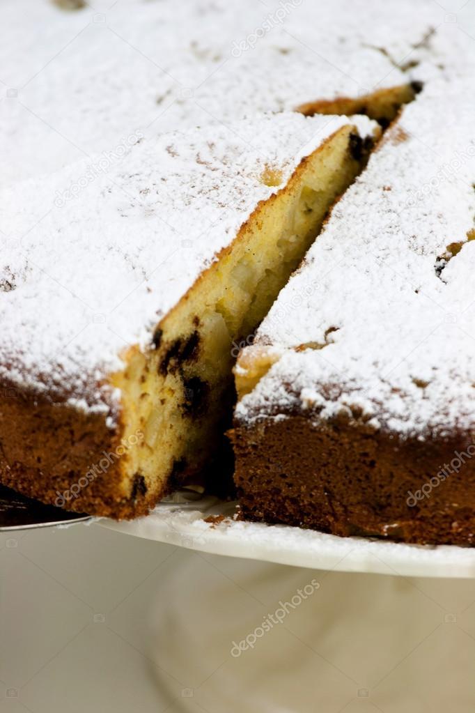 Italienische Kuchen Mit Ricotta Kase Birnen Und Schokolade Tropfen